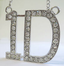 Collar Colgante ONE DIRECTION DIRECTIONER 1D ACERO LARGA STRASS necklace