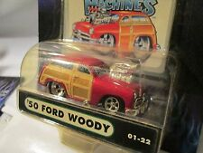 1 Muscle Machine '50 ford woody RED  funline custom blower  1:64 scale maisto