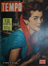 TEMPO N° 39/ 30.SET.1954 UN PRINCIPINO PER DAWN ADDAMS - LE FURIE DI AVA GARDNER