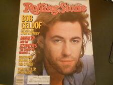 Bob Geldof, Bob Dylan  - Rolling Stone Magazine 1985
