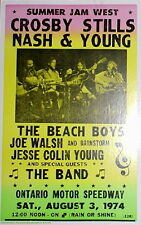 """Crosby Stills Nash & Young Concert Poster - 1974 w/ The Band - CSNY - 14""""x22"""""""