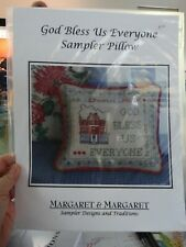 """Counted Cross Stitch Pattern by Margaret & Margaret """"God Bless Us Everyone"""" new"""