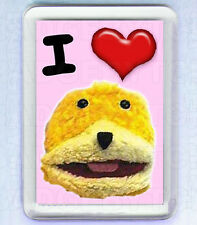 I LOVE FLAT ERIC SMALL FRIDGE MAGNET - COOL!