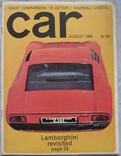 CAR magazine 08/1966 featuring Ford Zephyr, Vauxhall Cresta, Lamborghini