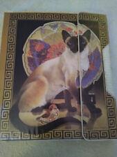 1980's Mead Trapper Keeper & 8 Original Folders Vivian Boswell Sophisticats Cats