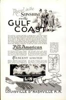 Advertising Gulf Coast The Pan American All-PullmanLouisville&Nashvile R.R.1926