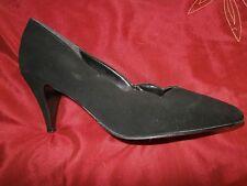 Ladies Black Suede Court shoes size 7