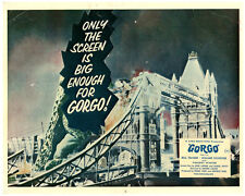 GORGO ORIGINAL BRITISH LOBBY CARD FRONT OF HOUSE GIANT LIZZARD TOWER BRIDGE