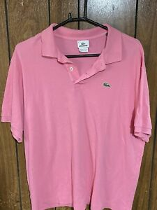 Lacoste Mens Polo Shirt Light Pink Size 8 XXL 2xl