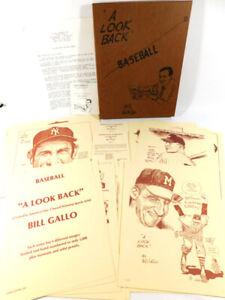 1990 Bill Gallo  A Look Back Baseball Series 1, 2, 3, 4 COA's #1426 Mint