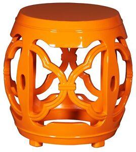 Orange Lacquered Drum Stool (last one)