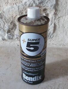 Ancien Bidon Huile Super 5 + Bendix liquide frein garage burette vtg