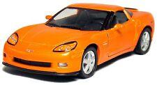 """5"""" Kinsmart 2007 Chevrolet Corvette Z06 Diecast Model Toy Car 1:36 Chevy ORANGE"""