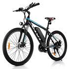 26INCH Alloy Electric Bicycle Bike City Mountain 36VBattery Sport+Lamp 25KM/H HI