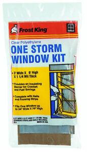 Frost King P71H Clear Polyethylene Storm Window Kit , 3' x 6' x 1.25 Mil