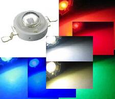 Hi-Power LED 1W 3W Weiß Warmweiß Kaltweiß Blau Royalblau Rot Tiefrot Grün