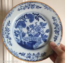 Belle assiette faience XVIIIeme Delft Marque Hache