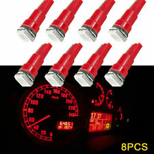 8Pcs T5 2721 1-SMD Red Dashboard lights A/C Climate Control lights LED Bulbs