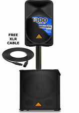 Behringer D1200D-PRO & B112W Wireless Powered System, Pole and Cable Free