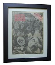 ANTI NAZI LEAGUE+RARE ORIGINAL 1978 VINTAGE NME+POSTER+FRAMED+FAST+GLOBAL SHIP