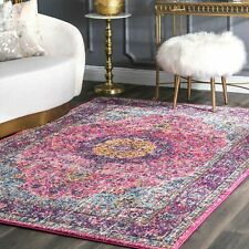 nuLOOM Traditional Oriental Distressed Area Rug in Pink | 4.5 Star Amazon Review