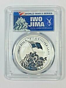 2020-P PCGS MS70 Tuvalu $1 Iwo Jima 75th Anniversary .9999 Silver Coin with COA