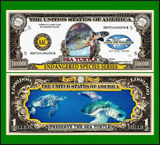 USA 'Sea Turtle' 1 Million Dollar banknote - Endangered Species - UNC & CRISP