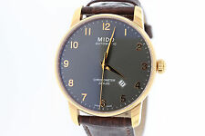 Men's Mido Jubile Chronometer Automatic M86903138 Charcoal Dial Leather Watch
