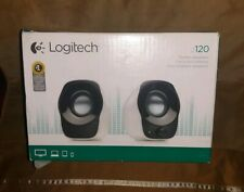 Logitech z120 Stereo Speaker White NIB Open Box Stereo Speakers
