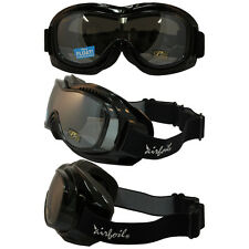 Airfoil Padded Fit Over Glasses Riding Goggles with Silver Smoke Lenses