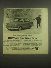 1962 Mercedes-Benz DKW Junior De Luxe Car Ad - Nice on Ice, go on snow
