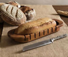 Vagabond+House+Harvest+Bread+Cutting+Board+Basket+Acacia+Wood+16.5%E2%80%9D+EUC
