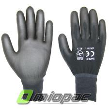 6-240 Paio S,M,L,XL Meccanico Guanti da Lavoro Nylon Nero Guanti da Montaggio