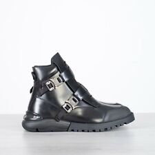 DIOR HOMME 1950$ Black Calfskin Boots With Dior Buckle Detail
