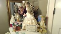 "HER LADY & CHILD Madame Alexander 1993 8"" WENDYKIN~ORIG BOX & 21"" PORCELAIN LADY"