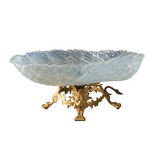 19th Century French Gilt Bronze And Opaline Glass Compote