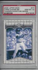 Chris Chambliss 2003 Upper Deck Yankees Signature Series Card # 17 Graded 10