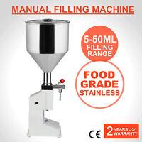 Manual Liquid Filling Machine Remplissage Filling 5-50ML Capacity Shampoo Filler