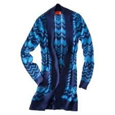 587bbbdd06 NWOT Missoni Knit Long Sweater Cardigan w  pockets Blue VIA Chevron XS