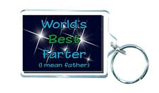 WORLD'S BEST FARTER ( I MEAN FATHER) Novelty Keyring Ideal Gift/Present