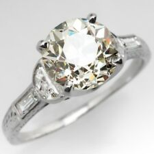 1.25Ct OffWhite Round Cut Real Moissanite 14KT White Gold Beautiful Wedding Ring