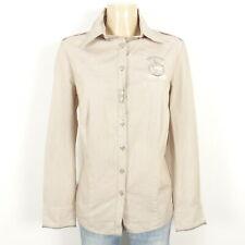 L'ARGENTINA Bluse Hemd Streifen Braun Weiß Gr. 44