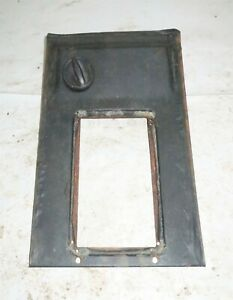 1982 Delorean DMC 12 OEM Center Console Front Panel w/out Clock Hole + Dimmer