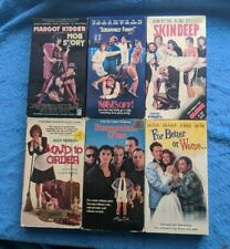 COMEDY 6 VHS Tape Lot Mob Story Skin Deep Noises Off Disorganized Crime