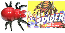 Wind-Up Walking Red Spider Hong Kong Toy New NOS 1970s + Box Print Needs Oil?