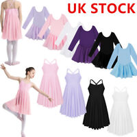 Girl Kids Ballet Dance Leotard Gymnasitcs Tutu Skirt Ballerina Lyrical Dancewear