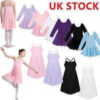 Girl Kids Ballet Dance Leotard Gymnasitcs Tutu Skirt Ballerina Lyrical Dancewear