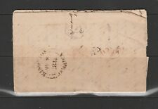 Jamaica 1841 Envelope to Wisbech, England, 1/- paid manuscript,Kingston circular