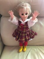 """Lovee Doll Co. 1980 19"""" Doll Orginal Outfit Yellow Boot Skates"""