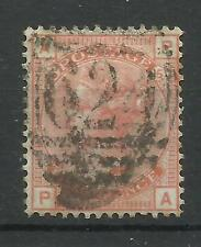 1873/80 Sg 152, 4d Vermilion (PA) Plate 15 (Large Garter Watermark) Fine used.